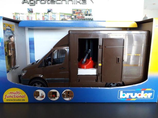 Bruder Kurier UPS mercedes benz +figurka+ paleciak