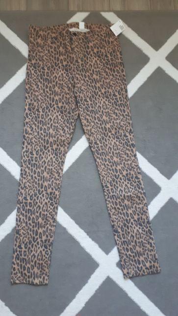 Spodnie w panterkę nowe H&M