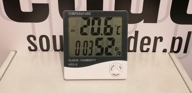 ID: 057 Termometr pokojowy zewnętrzny wilgotnościomierz zegar data