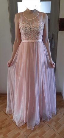 suknia długa tiul S