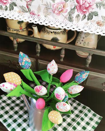 Tulipany#szyte tulipany#dekoracja#rękodzieło##handmade#