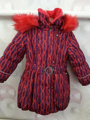 Пальто зимнее Lenne для девочки 104р