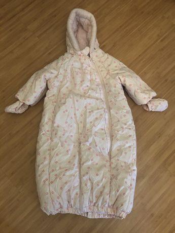 Конверт для выписки зима-осень детский комбинезон от 0 до 18 мес.