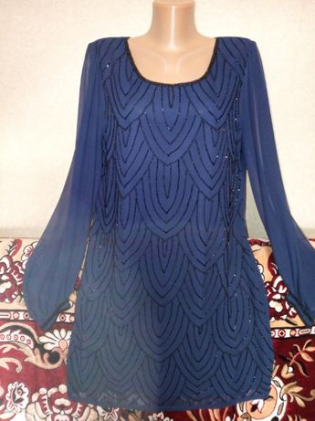 Праздничное платье расшитое бисером