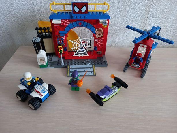 Конструктор лего LEGO Juniors Убежище Человека паука 10687