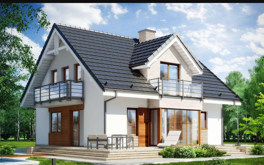 Projekt domu RODODENDRONY 5 WN (lustrzane odbicie)