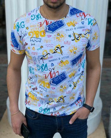 Мужская стильная футболка Dolce & Gabbana Дольче Габана