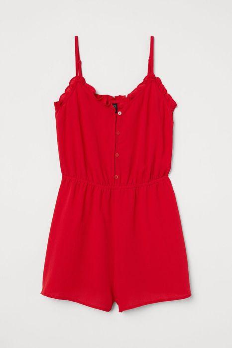 Красный ромпер комбинезон шорты новая коллекция h&m Бровки - изображение 1