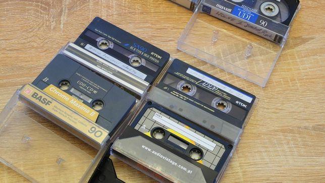 kasety magnetofonowe TDK, BASF, SONY, zestaw 7 szt,