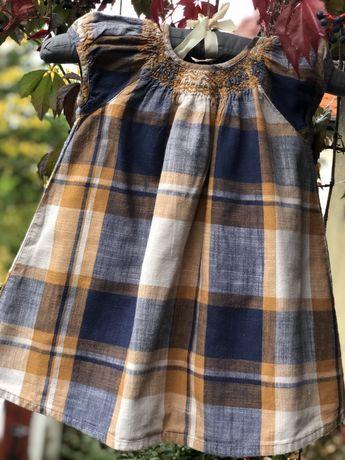 Next sukienka w kratkę toz 2-3latka /98cm