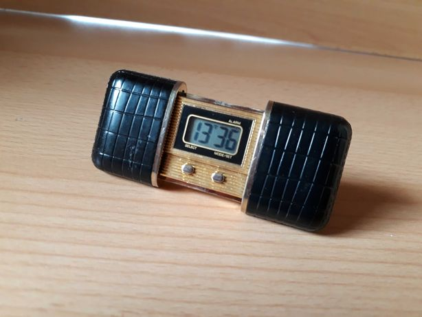 Sprzedam bardzo rzadki kieszonkowy mini budzik .LCD