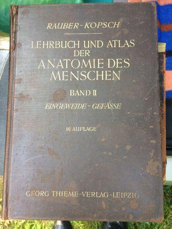 Podręcznik i atlas anatomii człowieka Tom II Niemiecka 1941r.