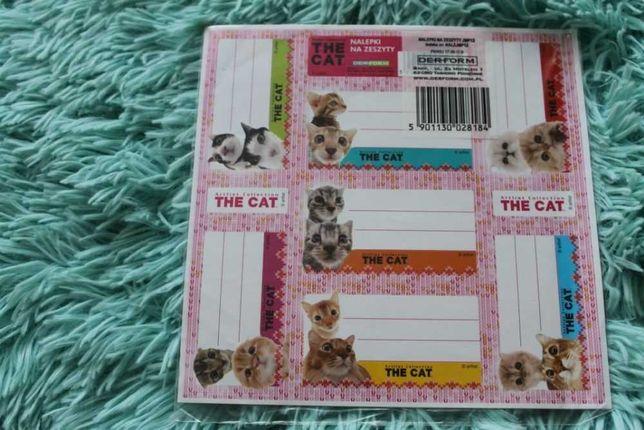 Naklejki na zeszyty z The Cat