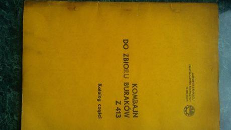 Z 413 Kombajn do buraków Z413 katalog części Neptun