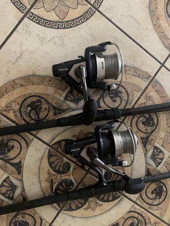 2x Spro Super Long Cast LCS/Daiwa Black Widow 3,6m 3lb 50mm