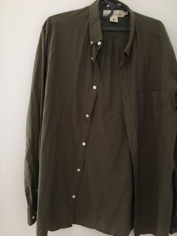 Рубашка Зелёная H&m ( L )