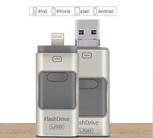Флешка 3в1 32/64GB для iPhone/Android/Windows USB 3.0