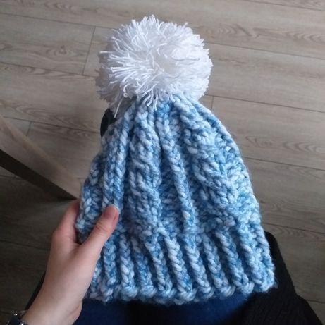 Handmade - Ciepła zimowa czapka