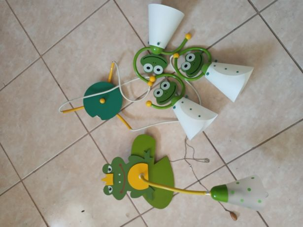 Zestaw: lampa i kinkiet żabki