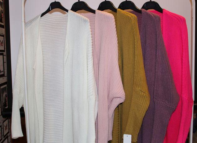 Długie sweterki ala alpak