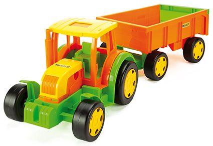 Wader Gigant traktor farmer z przyczepą