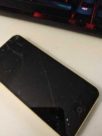 iphone 5 c so com o vidro partido