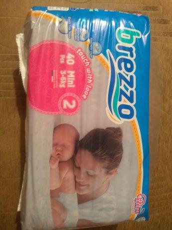 Підгузники brezzo mini,розмір 2, 3-6 kg, в упаковці 40 штук