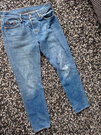Spodnie dżinsy z wysokim stanem Levi's model 501 r. XS