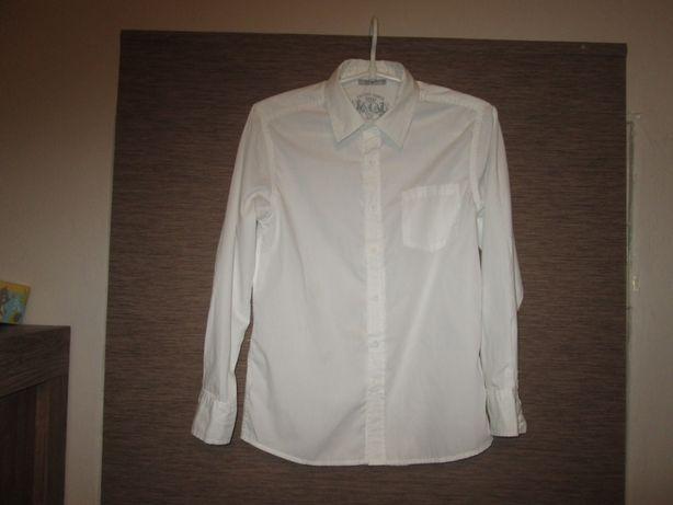 Biała koszula chłopięca długi rękaw 152 5.10.15