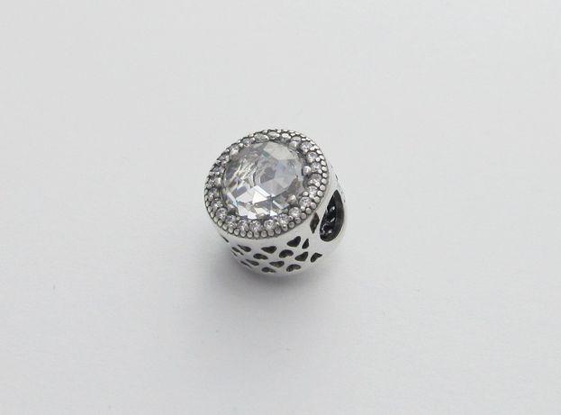 Charms do Pandora, lśniący kryształ. Srebro 925 różne kolory
