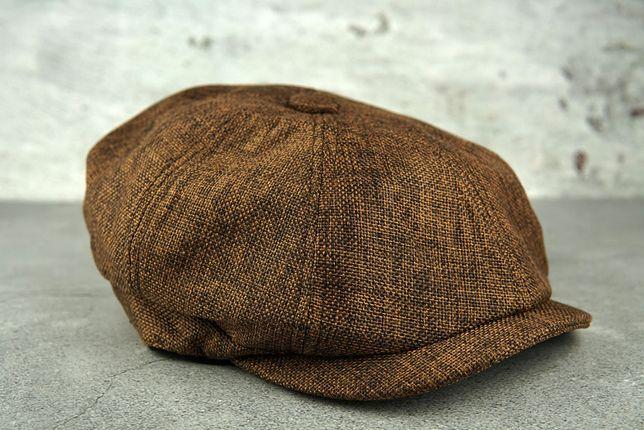 KASZKIET wełniany brązowy czapka bakerboy PEAKY BLINDERS kapelusz