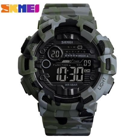Zegarek męski SKMEI wojskowe moro super solidny całkowicie wodoodporny
