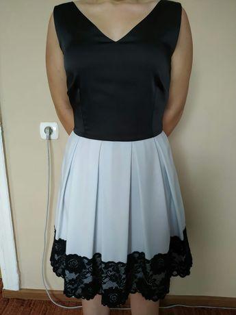 Sukienka czarno biała. Rozmiar 40