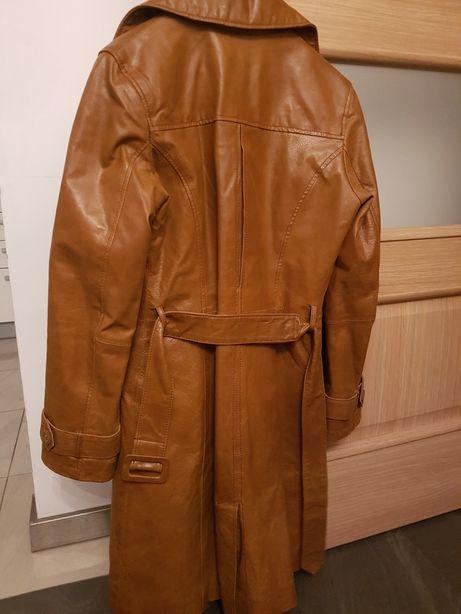 Sprzedam! Płaszcz skórzany, brąz, Orsay, r. 36