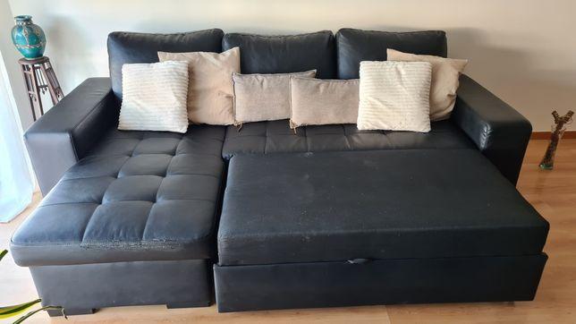 Sofá cama e chaise lougue