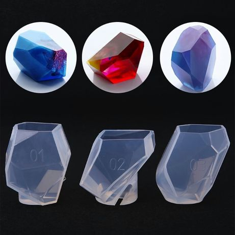 Foremka silikonowa do biżuterii kryształ XL