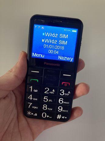 Panasonic telefon dla seniora komórkowy dual SIM duże przyciski
