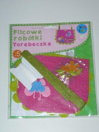 Filcowe robótki różowa torebeczka