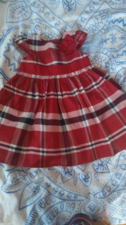 Sukienka wizytowa r 9-12 mcy