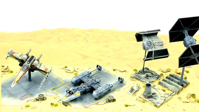 Star Wars Diorama X-wing Tie-Fighter Y-Wing Tie Advanced Skala 1/72
