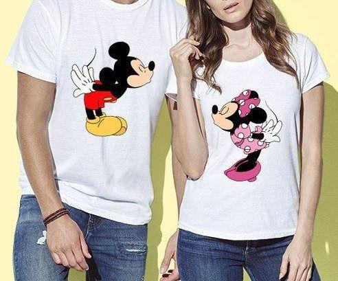 Zestaw komplet koszulka t-shirt bluzka biała Disney postacie Minnie Mi