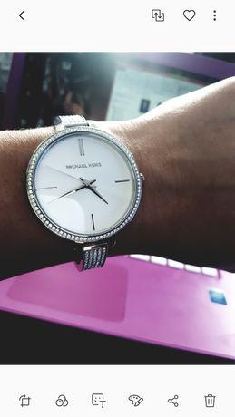 Srebrny zegarek Michael Kors Mk swarovski Klein chanel jacobs karan ck
