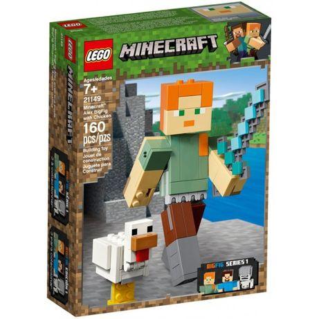 Klocki LEGO Minecraft 21149 Minecraft BigFig - Alex z kurczakiem
