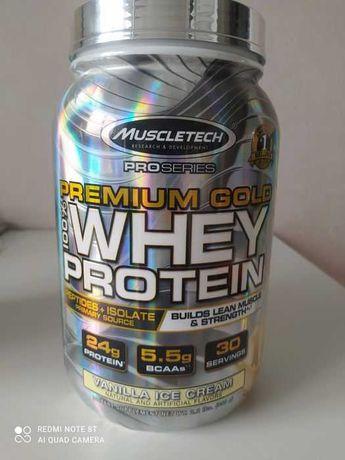 Muscletech,Premium Gold 100% Whey протеин, ванильное мороженое, 998 г