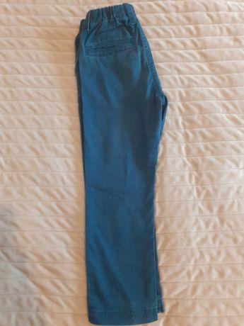 Spodnie materiałowe granatowe Zara r.104