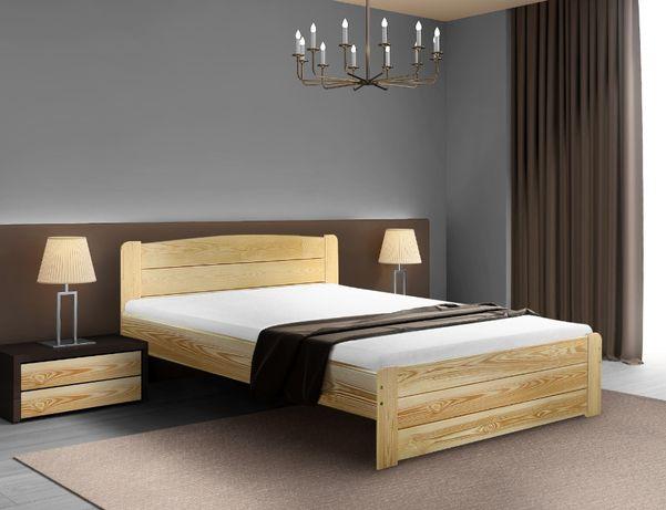 łóżko drewniane sosnowe LOARA 80x190 bardzo mocne