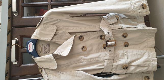 Płaszcz Reserved wiosna beż rozm 38