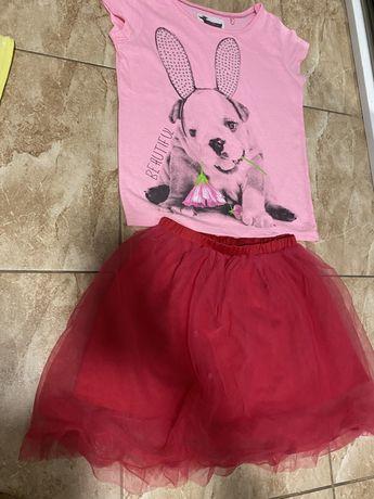 Zestaw koszulka + spodniczka tiulowa Reserved r.110