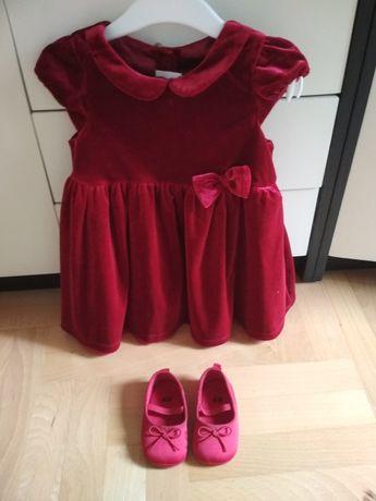 Sukienka i buciki H&M zestaw