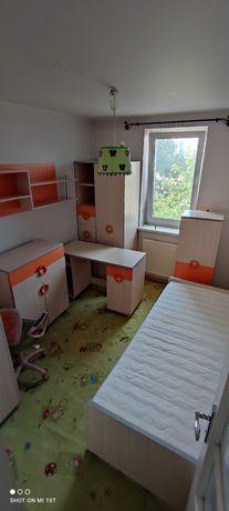 Meble młodzieżowe, zestaw 8 mebli - 2 łóżka, biurko, szafy, komody.